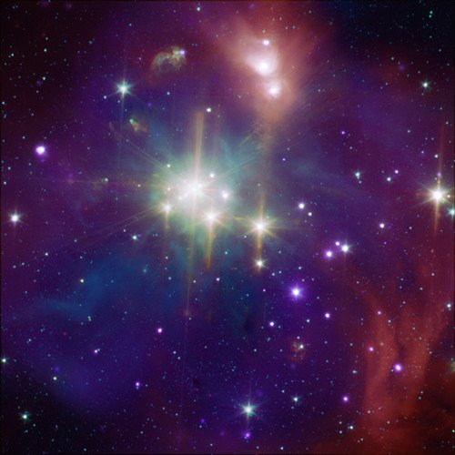 Astronomer image of coronet star cluster by NASA